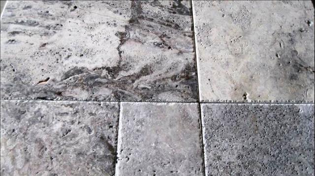 Silver Travertine 16X16 Tumbled Travertine Paver