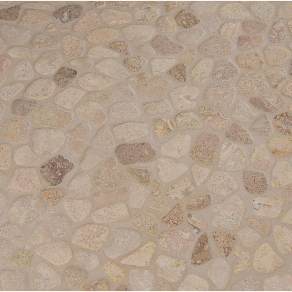 Travertine Blend Pebbles 10mm