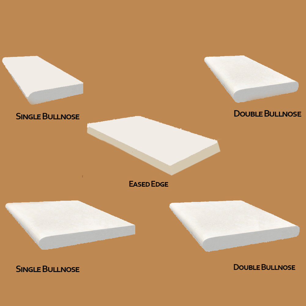 Tuscany Beige 12X24X1.2 Honed Unfilled Double Bullnose Pool Coping